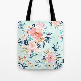 CONTRA FLAUNT YA Aqua Romantic Floral Tote Bag