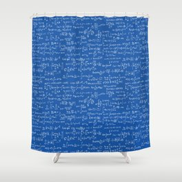 Math Equations // Royal Blue Shower Curtain