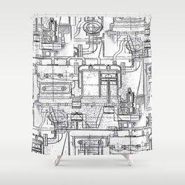 Engineered Sketch Shower Curtain
