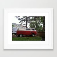 vw bus Framed Art Prints featuring VW BUS  by Katie Corley