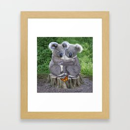 Baby Koala Huggies Framed Art Print