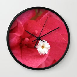 TEXTURES - Bougainvillea Wall Clock