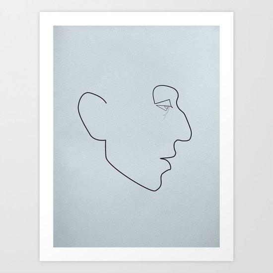 One line Serge Gainsbourg Art Print
