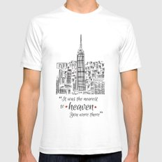 Heaven SMALL White Mens Fitted Tee