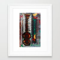 reggae Framed Art Prints featuring reggae six by songs for seba