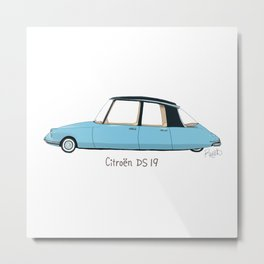 Citroën DS 19 Metal Print