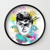audrey Wall Clocks featuring Audrey by Featured Interiors