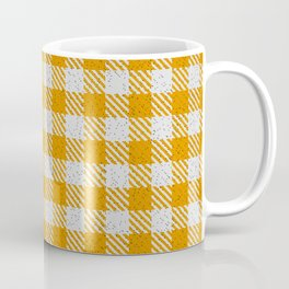 Dark Orange Buffalo Plaid Coffee Mug