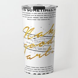Make Good Art - Neil Gaiman Travel Mug