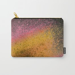 Sunset and Black Paint Splatter Carry-All Pouch