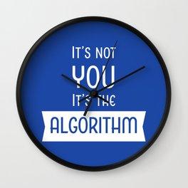 Social Media Algorithm Blues Wall Clock