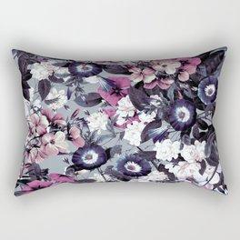Forest Night Garden Gray Rectangular Pillow