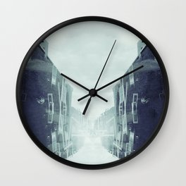 city in the sky Wall Clock
