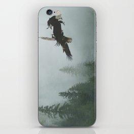 Battle for the Cedars - Bald Eagles Wildlife Scene iPhone Skin