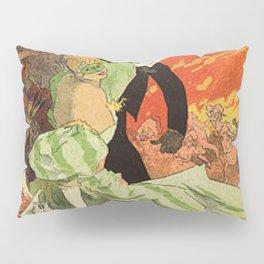 Th Tre De L Op Ra Carnaval 1896 Grand Veglione De Gala 1896 By Jules Cheret | Reproduction Art Nouve Pillow Sham