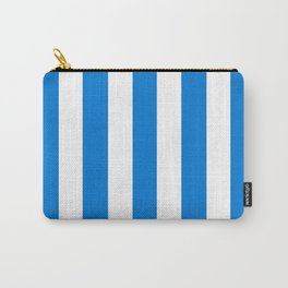 Microsoft Edge blue - solid color - white vertical lines pattern Carry-All Pouch
