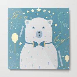 White Bear Metal Print