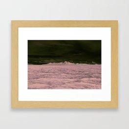 SEA - SNOW - OCEAN - ICE - COLD - COOL - PHOTOGRAPHY Framed Art Print