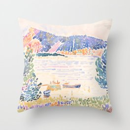 Cap Nègre by Henri-Edmond Cross 1909, French Throw Pillow