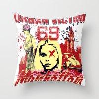 manhattan Throw Pillows featuring Manhattan  by Tshirt-Factory