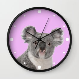 Pretty Cute Koala Wall Clock