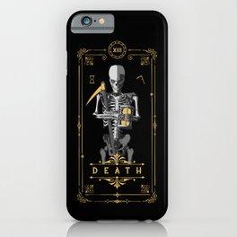 Death XIII Tarot Card iPhone Case