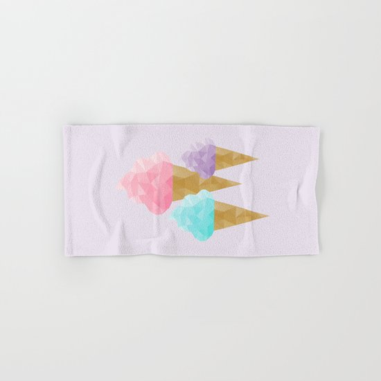 Geometric Ice Cream Hand & Bath Towel