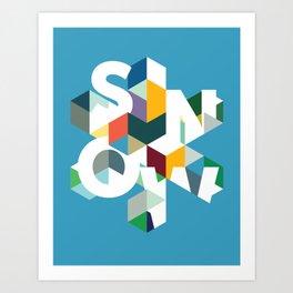 Snow (type) Art Print