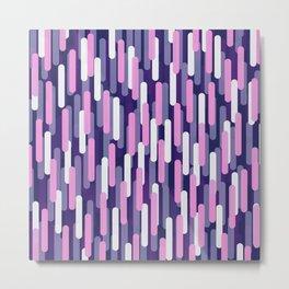 Fast Capsules Vertical Violet Metal Print