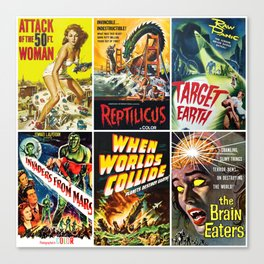 50s Sci-Fi Art Collage #3 Canvas Print