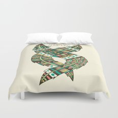 Soulmate Feathers Duvet Cover