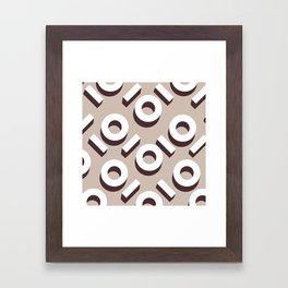 Domio Keyhole Pattern Framed Art Print