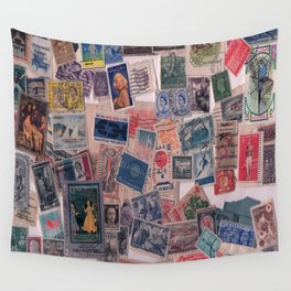 20th Century through stamps Wall Tapestry