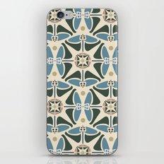 Blue Tulips - Circle Pattern iPhone & iPod Skin