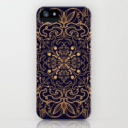 gold esoteric mandala of peace iPhone Case