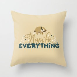 Lazy Sloths Patten Throw Pillow