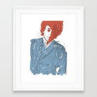 dylan Framed Art Prints featuring Dylan by Alec Goss
