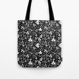 Ampersands - Black & White Tote Bag