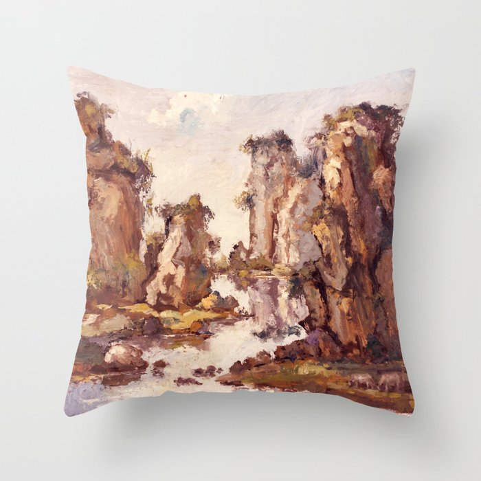 Stone Forest Throw Pillow