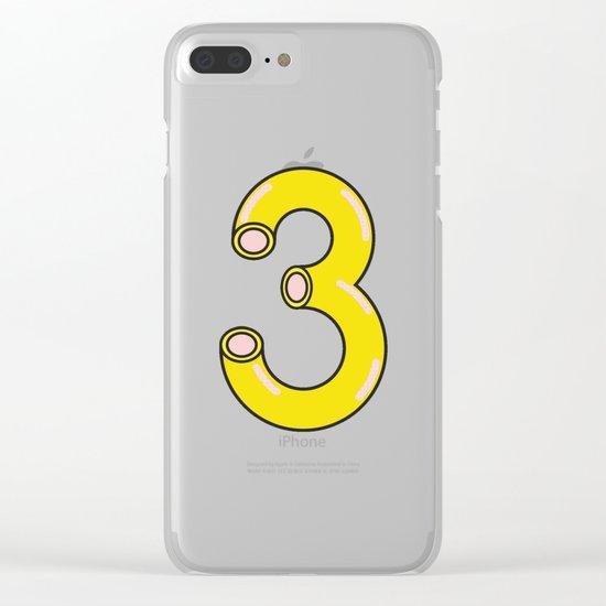 Macaroni 3 Clear iPhone Case