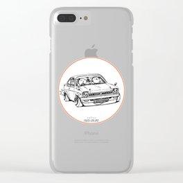 Crazy Car Art 0189 Clear iPhone Case