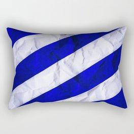 Crumbled Navy Stripes Rectangular Pillow