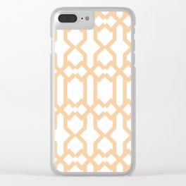 Orange Color Nat Art Set of wallpaper design Clear iPhone Case
