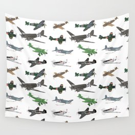 Multiple WW2 Airplanes Wall Tapestry