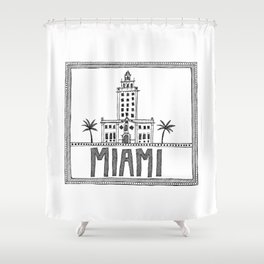 Miami - Freedom Tower Shower Curtain
