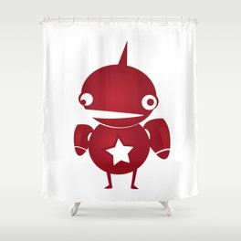 minima - slowbot 002 Shower Curtain