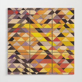 Triangle Pattern No.8 Black and Yellow Wood Wall Art