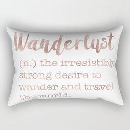 Wanderlust definition Rectangular Pillow