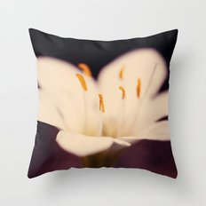 Rain Lily Throw Pillow