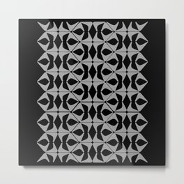 DISTORTION AND PERCEPTION PATTERN  - Black and white Metal Print
